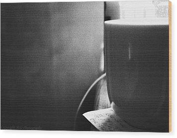 B And W Wood Print by Stacie  Goodloe