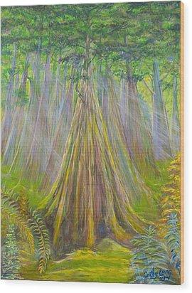 B C Cedars Wood Print