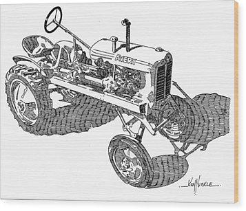 B F Avery V Wood Print by Ken Nickle