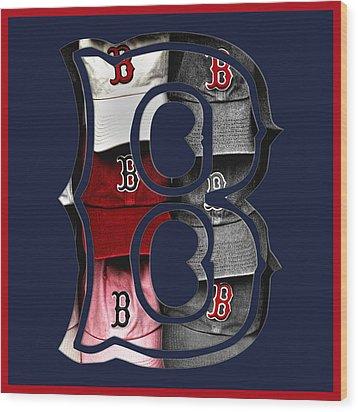 B For Bosox - Boston Red Sox Wood Print by Joann Vitali