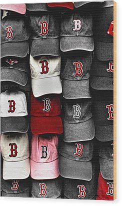 B For Bosox Wood Print by Joann Vitali