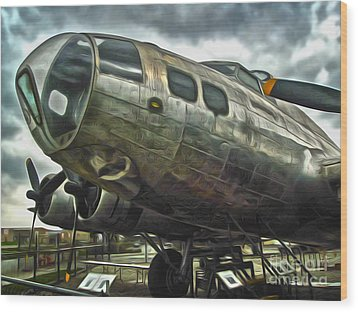 B17 Bomber Wood Print by Gregory Dyer