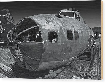 B17 Derelict Airplane - 02 Wood Print by Gregory Dyer