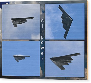 B2 Stealth Bomber Wood Print