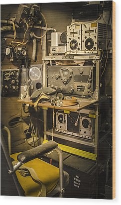 B26 Bomber Radioman Wood Print