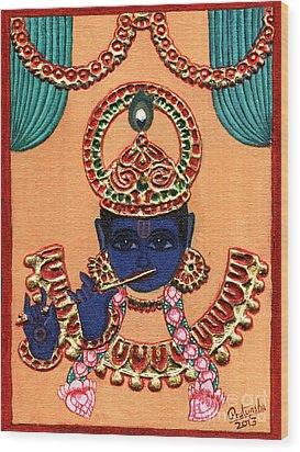 Baansuri Krishna Wood Print