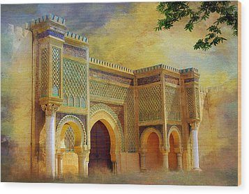 Bab Mansur Wood Print by Catf