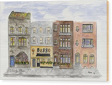 Babbo @ Waverly Place Wood Print by AFineLyne
