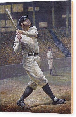 Babe Ruth Wood Print by Gregory Perillo