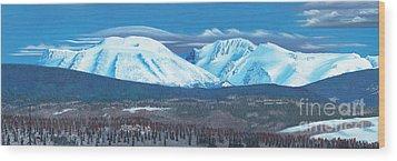 Babine Mountain Range Wood Print