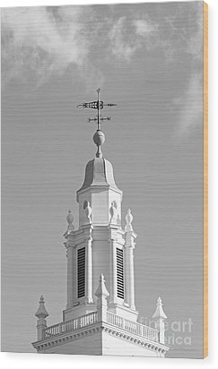 Babson College Tomasso Hall Cupola Wood Print by University Icons
