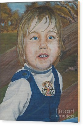 Baby Bro Wood Print