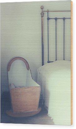 Baby Crib Wood Print by Joana Kruse