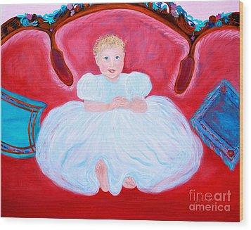 Baby Girl. Inspirations Collection. Wood Print by Oksana Semenchenko