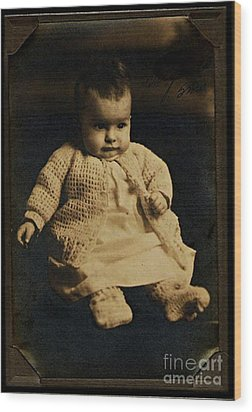 Baby Virginia 1930 Wood Print by Unknown