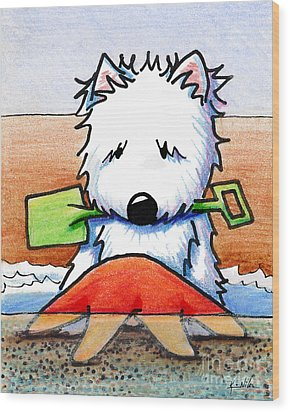 Baby You're A Star With White Border Wood Print by Kim Niles