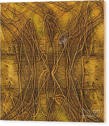 Babylon By Rail Wood Print