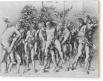 Bacchanal With Silenus - Albrecht Durer Wood Print by Daniel Hagerman