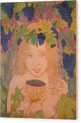 Bacchus Wood Print by Ron Moses