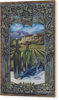 Bacchus Vineyard Wood Print by Ricardo Chavez-Mendez