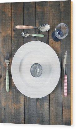 Bachelor's Dinner Wood Print by Joana Kruse