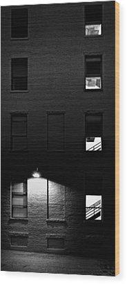 Back Alley 330am Wood Print by Bob Orsillo