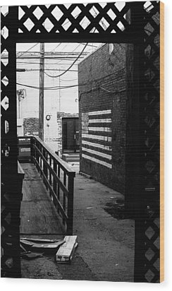 Back Alley America Wood Print by Nathan Hillis