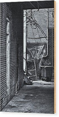 Wood Print featuring the photograph Back Alley by Greg Jackson