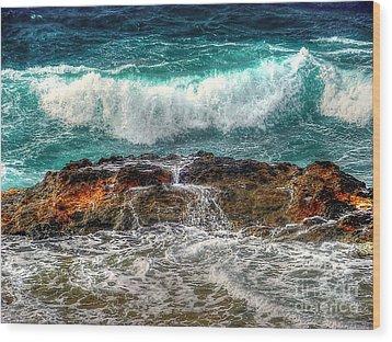 Back At Sea Wood Print