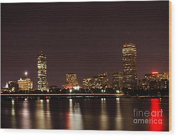 Wood Print featuring the photograph Back Bay At Night by Mike Ste Marie