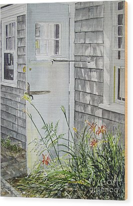 Back Door Nantucket Wood Print