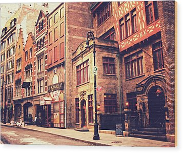 Back In Time - Stone Street Historic District - New York City Wood Print by Vivienne Gucwa