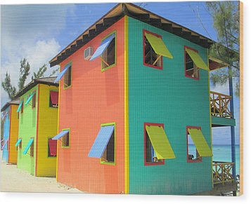 Back Of Cabins 1 Wood Print by Randall Weidner