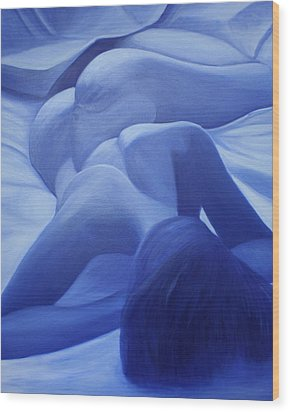 Back To Blue IIi Wood Print by Stephen Degan