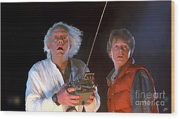 Back To The Future Wood Print by Paul Tagliamonte