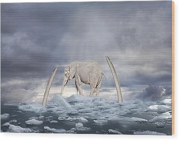 Wood Print featuring the digital art Back To The Ice Age by Angel Jesus De la Fuente