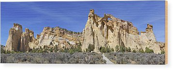Backroads Utah Panoramic 2 Wood Print by Mike McGlothlen