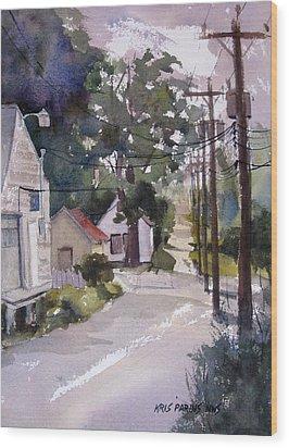 Backstreet Wood Print by Kris Parins