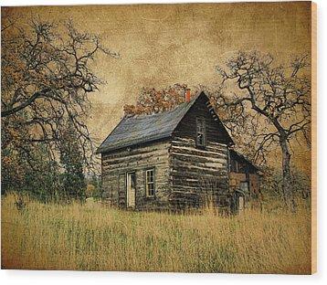 Backwoods Cabin Wood Print
