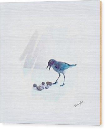 Wood Print featuring the mixed media Backyard Bird by YoMamaBird Rhonda