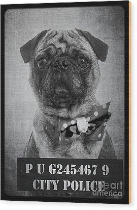 Bad Dog Wood Print by Edward Fielding