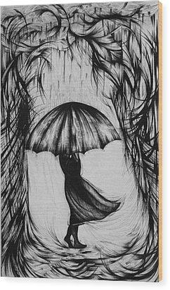 Bad Mood II Wood Print by Anna  Duyunova
