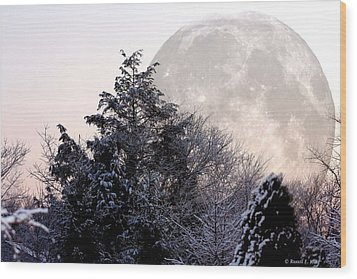 Bad Moon Risin' Wood Print by Russell  King