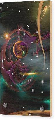 Bad Moons Arisin' Wood Print by Phil Sadler