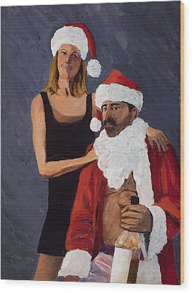 Bad Santa II Wood Print