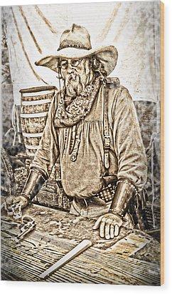 Bad Times Pilgrim Gotta Be Ready Wood Print by Randall Branham