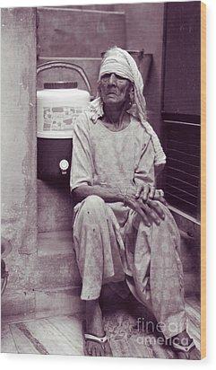Wood Print featuring the photograph Baddi Amma Old Grandmother by Mukta Gupta