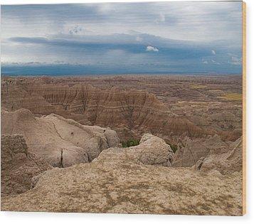 Badlands South Dakota Wood Print by Don Spenner