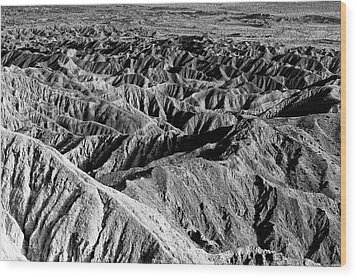 Wood Print featuring the photograph Badlands Of Great American Southwest - 2 by Photography  By Sai