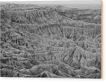 Wood Print featuring the photograph Badlands Of Great American Southwest - 3 by Photography  By Sai